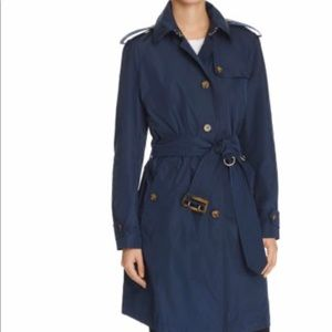 Burberry Oversized Trench Coat in Navy size 4